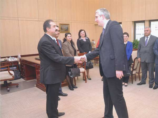 Richard Troope greets the Head of the Turkish Court of Accounts in Ankara