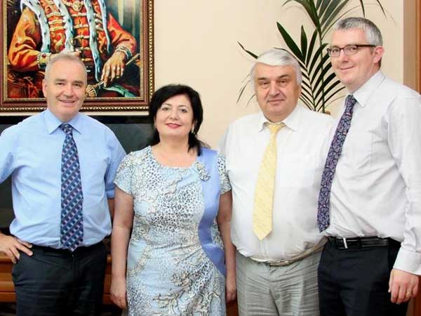 With the President and Director of the Court of Accounts Moldova