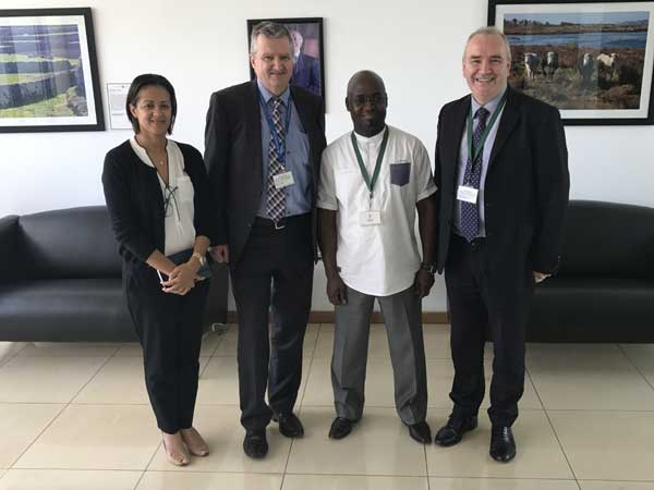 With William Carlos Irish Ambassador to Mozambique and Dr Zuande TA