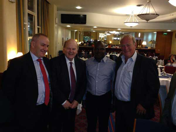 Sean Sweeney and the Mozambique delegation with Michael Noonan